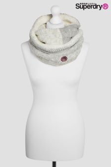 Superdry Grey/White Ombre Clarrie Cable Knit Snood
