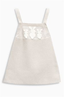 Bunny Knitted Pinafore (0mths-2yrs)
