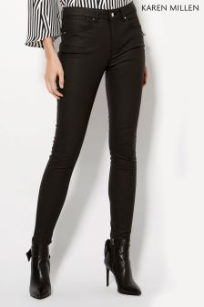 Karen Millen Black Coated Jean