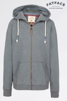 Fat Face Grey Marl Club Zip Through Hoody