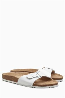 Patent Leather Footbed Sandals