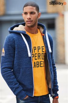 Superdry Orange Label Sherpa Lined Zip Hoody