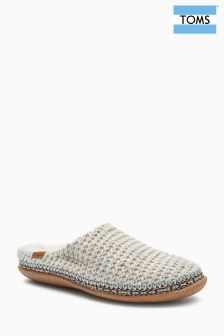 Toms Oatmeal Birch Sweater Knit Mule Slipper