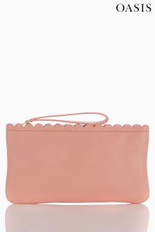 Oasis Nude Scallop Trim Lily Clutch