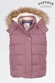 Fat Face Washed Rose Abbey Gilet