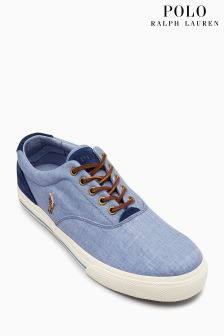 Polo Ralph Lauren Blue Chambray Vaughn Oxford Sneaker