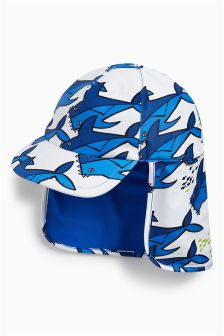 Shark Print Legionnaire's Hat (Younger Boys)