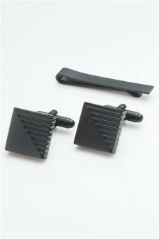 Cufflinks And Tie Slide Set