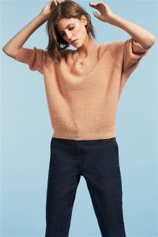 V-Neck Batwing Sweater