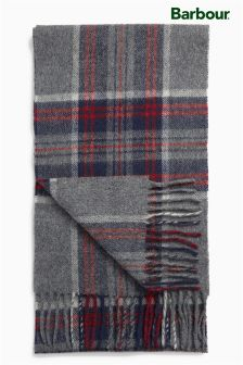 Barbour® Navy/Red/Grey Slaley Check Scarf