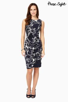 Phase Eight Navy/Ivory Clara Mae Dress