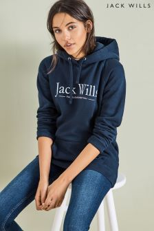 Jack Wills Navy Borrowfield Longline Hoody