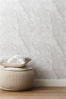 Paste The Wall Brooklyn Map Wallpaper