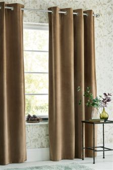 Matte Velvet Eyelet Curtains