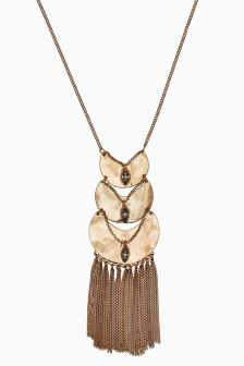 Tier Tassel Long Necklace