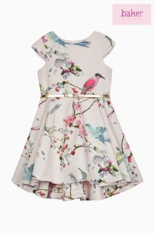 Baker By Ted Baker Pink Floral Prom Dress