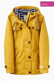 Joules Antique Gold Waterproof Hooded Coast Jacket