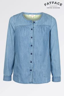 Fat Face Chambray Tessa Blouse