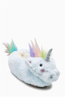 3D Unicorn Slippers (Older Girls)