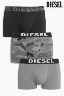 Diesel® Grey Trunks Three Pack