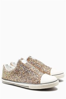 Glitter Laceless Pumps (Older Girls)