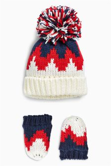 Zig Zag Pom Two Piece Set (Younger Boys)