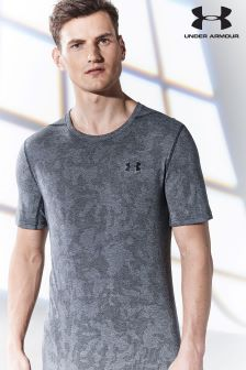 Under Armour Run Black Threadborne Elite T-Shirt