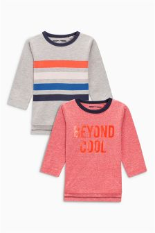 Beyond Cool Long Sleeve T-Shirts Two Pack (3mths-6yrs)