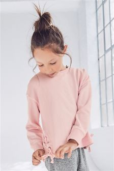 Lace-Up Tie Side Sweat (3-16yrs)