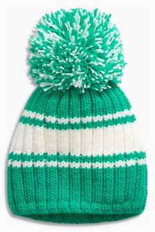 Retro Stripe Pom Beanie (Older Boys)
