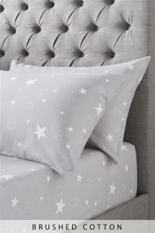 Brushed Cotton Stars Sheet