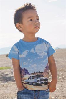 Short Sleeve Photographic Car T-Shirt (3mths-6yrs)
