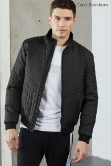 Calvin Klein Black Ofab Padded Bomber Jacket