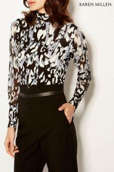 Karen Millen Leopard Leopard Jersey Print Top