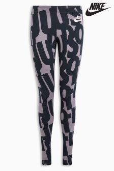 Nike Black Printed Club Legging