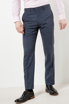 Signature Check Tailored Fit Suit: Trousers