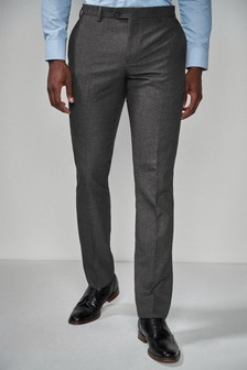 Textured Birdseye Suit: Trousers