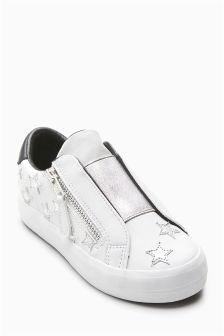 Star Elastic Front Trainers (Older Girls)