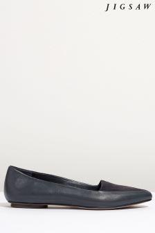 Jigsaw Blue Clarence Flat Shoe