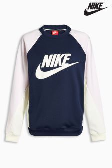 Nike Navy Colourblock Crew