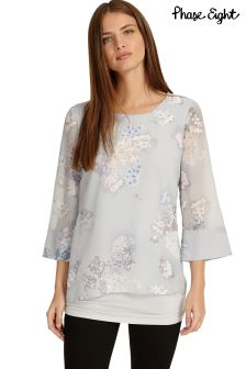 Phase Eight Silver Grey Shila Floral Blouse