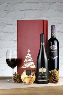 2 Bottle Buon Natale Red Wine Gift