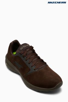 Skechers® Brown Suede Lace-Up Sneaker