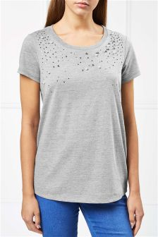 Pearl Embellished T-Shirt