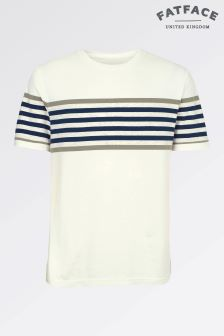 Fat Face Ecru Highlight Stripe Crew