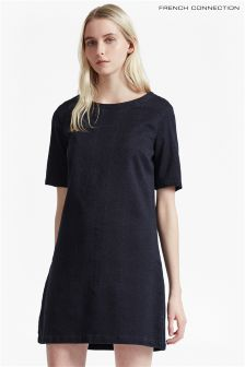 French Connection Jacquard Denim T-Shirt Dress