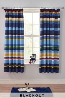 Alfie Stripe Pencil Pleat Curtains