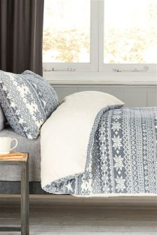 Super Soft Fleece Fairisle Pattern Bed Set