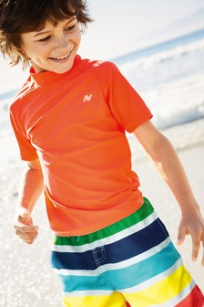 Short Sleeve Swim Rash Vest (3-16yrs)