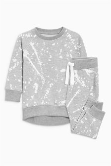 Printed Crew And Jogger Set (3mths-6yrs)